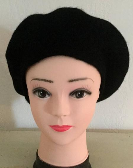 Béret femme coloris sombre