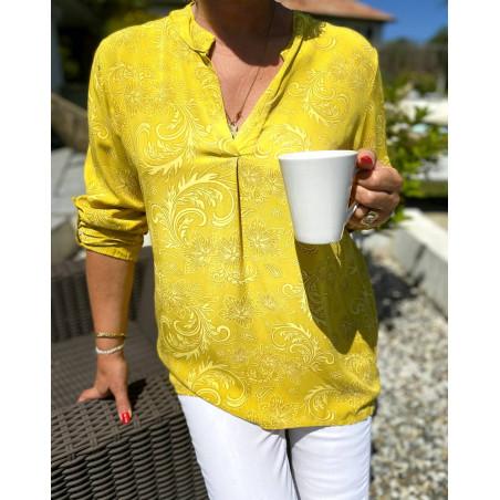 Tunique jaune arabesque