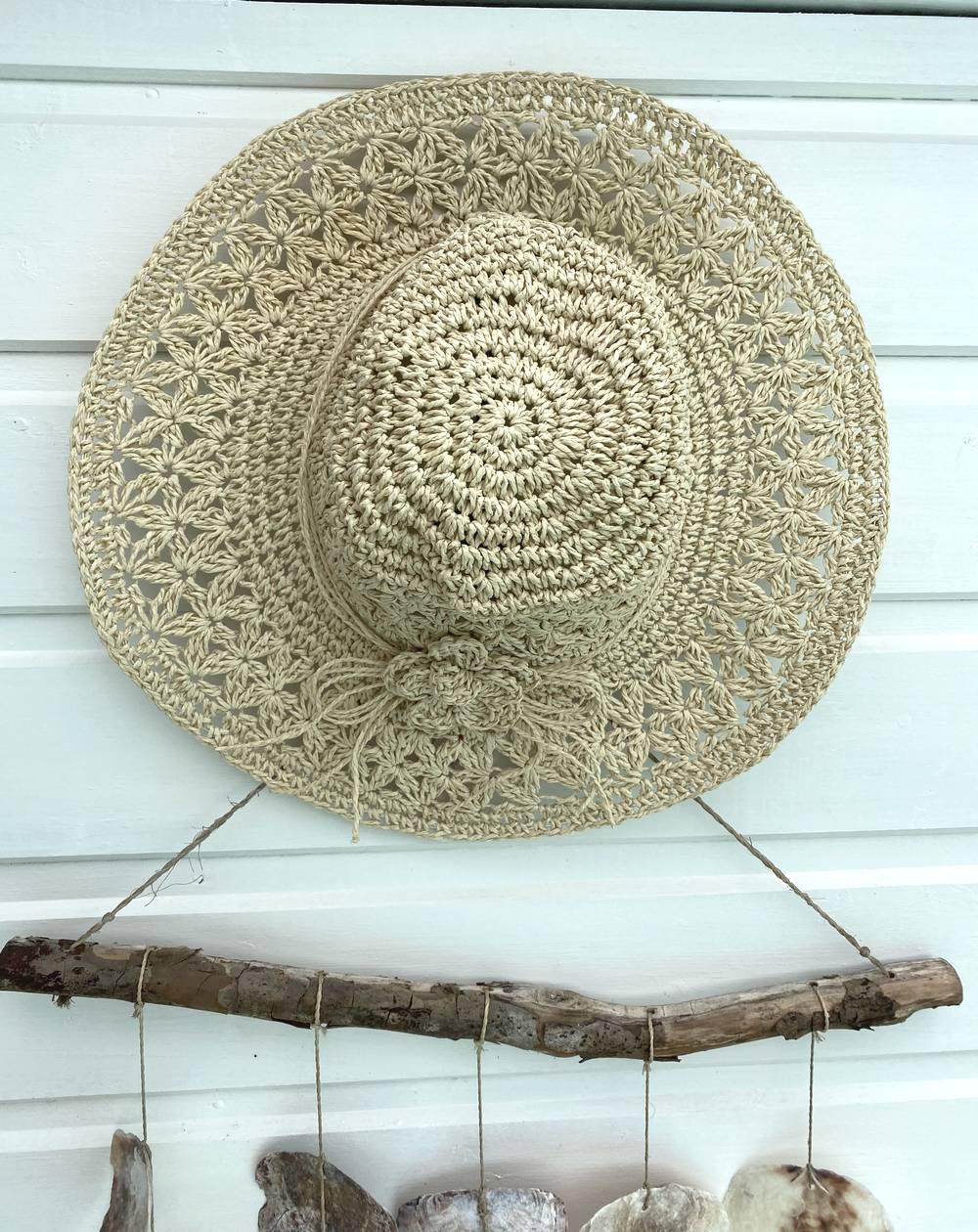 Chapeau de paille femme coloris naturel