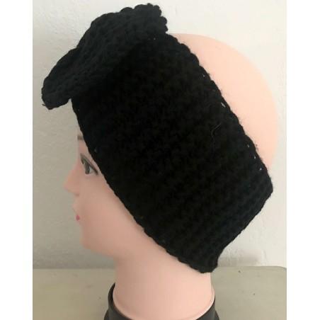 Bandeau cheveux tendance coloris noir