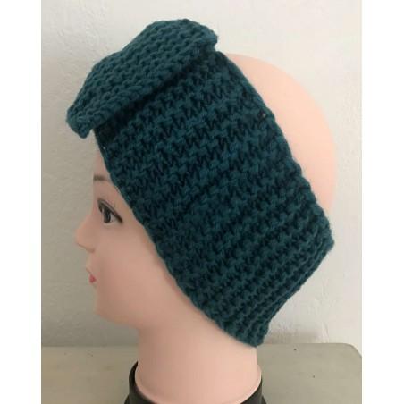 Headband cheveux tendance coloris bleu canard