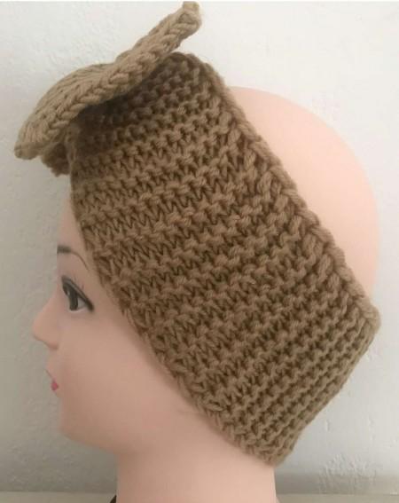 Headband cheveux tendance coloris camel