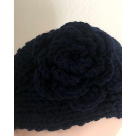Headband fleur et tendance coloris noir