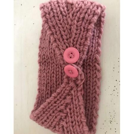 Headband fleur et tendance coloris vieux rose