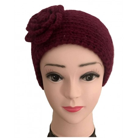 Headband fleur et tendance coloris bordeaux