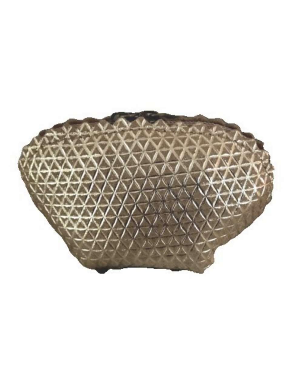 Porte monnaie en cuir véritable coloris doré