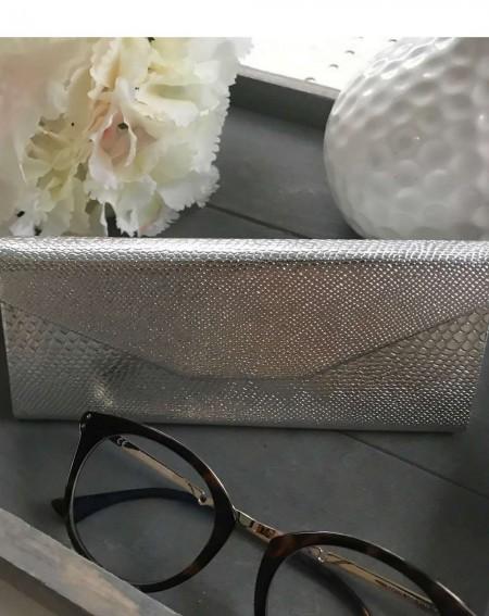 Étui à lunettes pliable coloris argenté