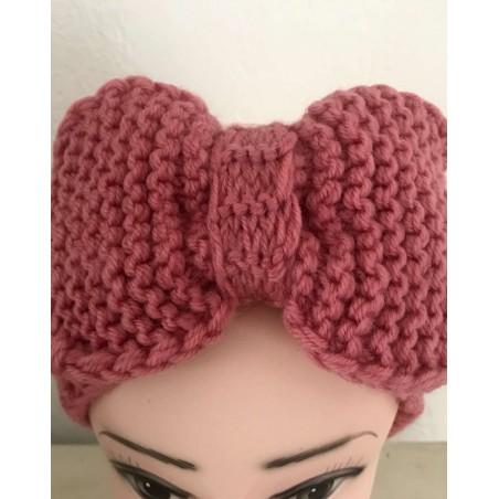 Bandeau cheveux tendance coloris vieux rose