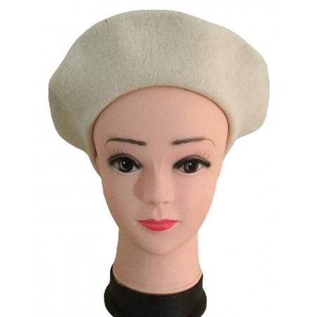 Béret femme coloris blanc