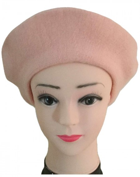 Béret femme coloris rose tendre