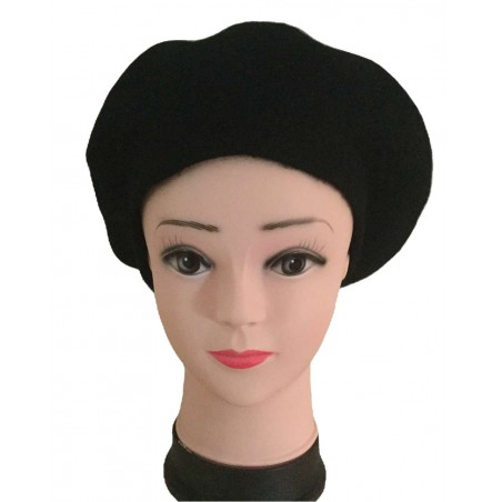 Béret femme coloris noir