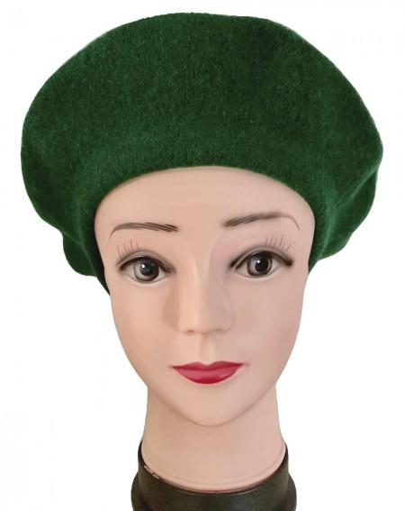 Béret femme coloris vert