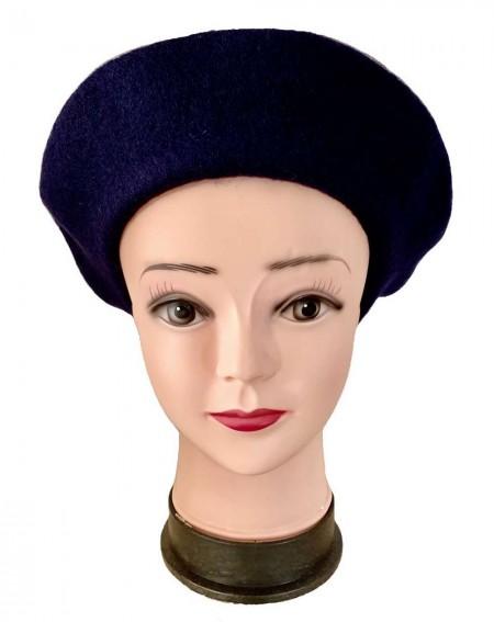 Béret femme coloris bleu marine