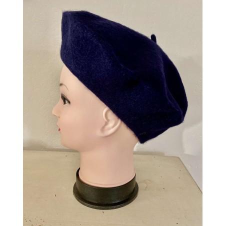 Béret femme coloris bleu