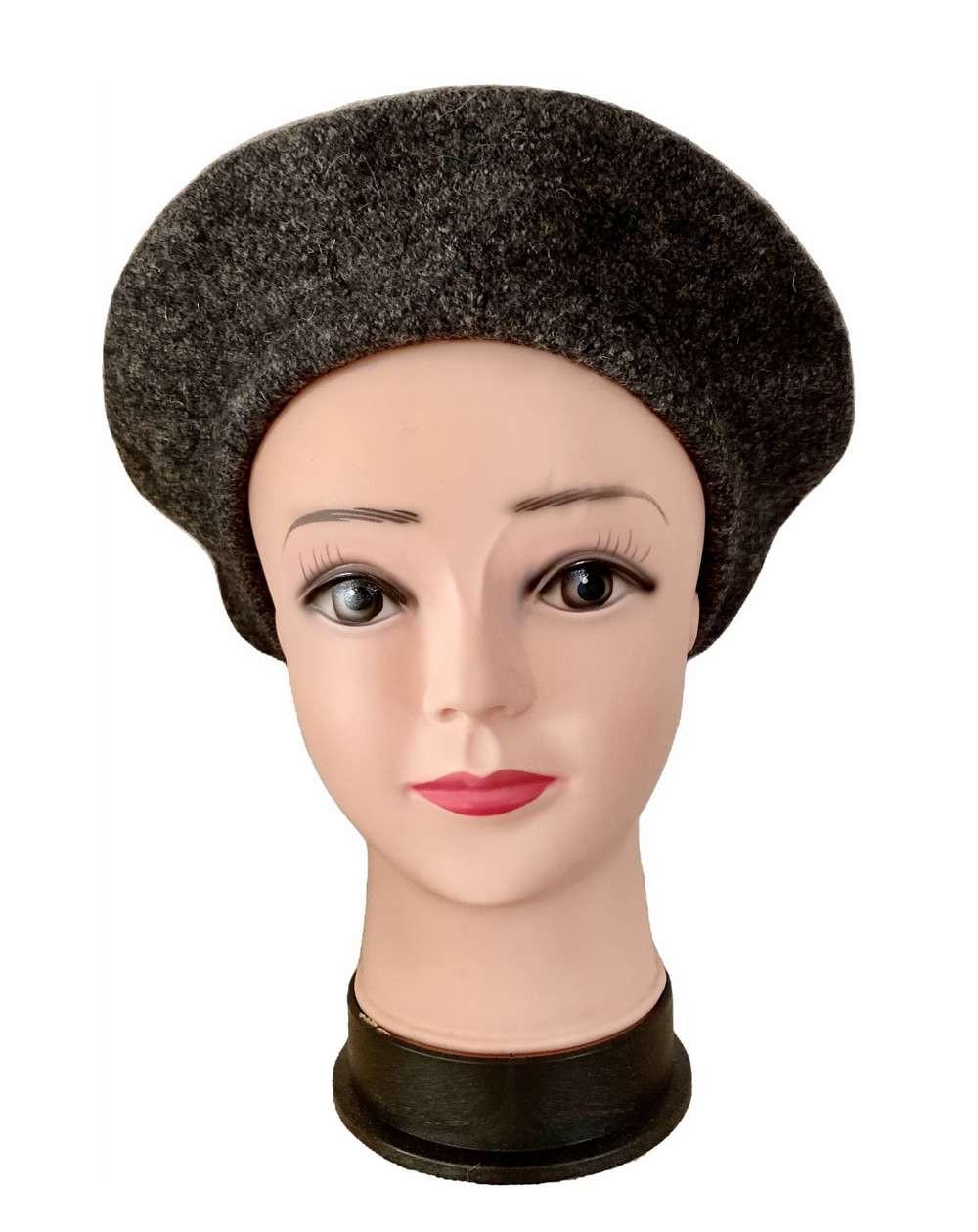 Béret femme coloris gris chiné