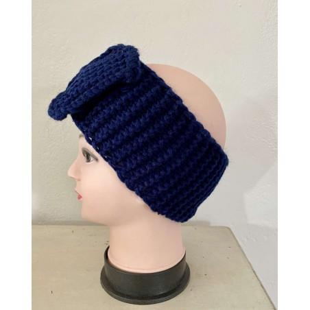 Headband cheveux tendance coloris bleu marine