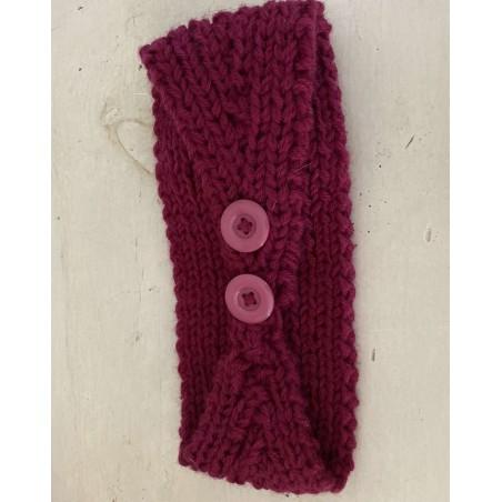bandeau à fleur et tendance coloris bordeaux