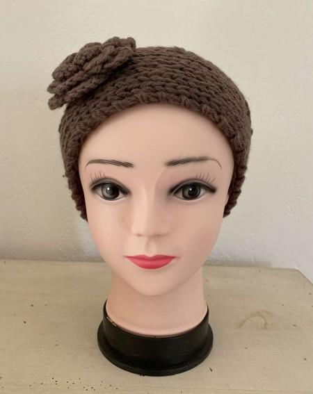 Headband fleur marron et tendance